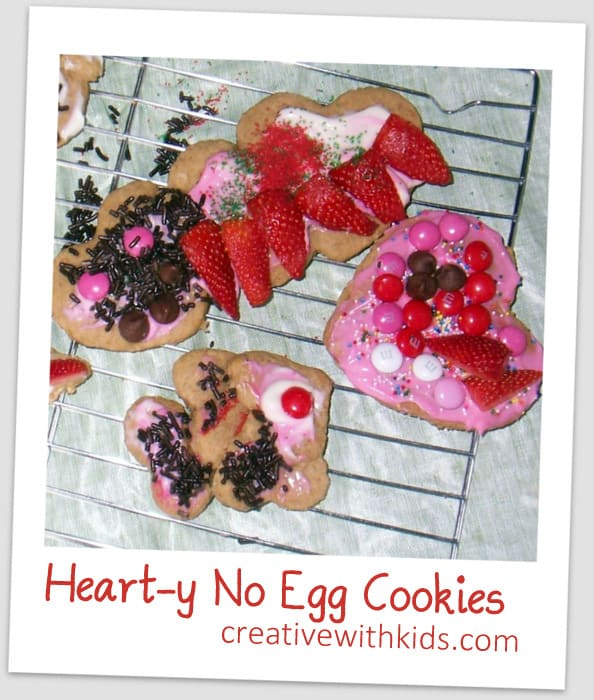 heart oatmeal cookies - no egg roll out recipe