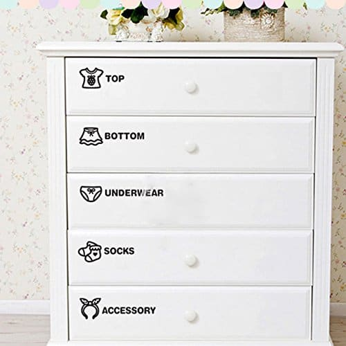 You Can Write Your Own Kid Clothing Drawer Labels With This Set Of 40 Stickers Be Helpful When Have A Unique Storage Situation Like If