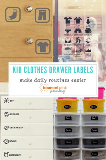 Kid Clothes Drawer Labels - printable and stickers