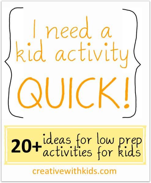 Indoor sensory activities for kids - easy!