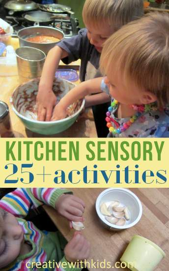 Lots of Sensory Activities for Eating Cooking and Play