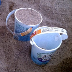 Recycled Yogurt Container Buckets