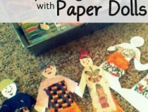 Scrappy paper dolls for sparking conversation and storytelling with kids