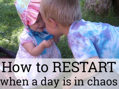 How to RESTART a day gone wrong