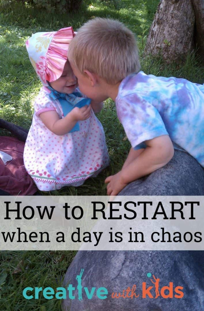 restarting when your day has gone into chaos