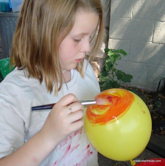 Balloon Print Painting