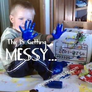 Messy Kids craft