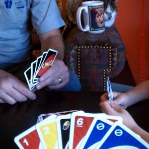 Playing the Uno game that the Great Pumpkin left
