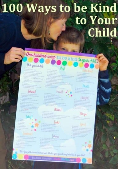 100 Ways to be Kind to Your Child Poster