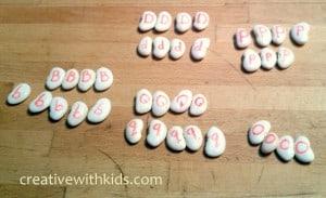Alphabet Beans letter matching