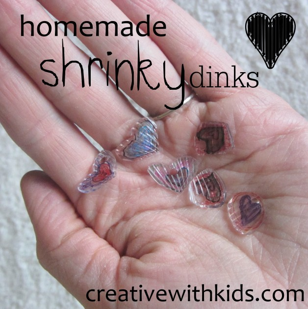 homemade shrinky dinks from recycled #6 plastic