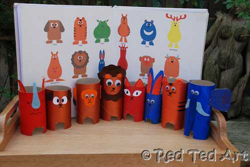 Upcycled Toilet Paper Tubes Animals