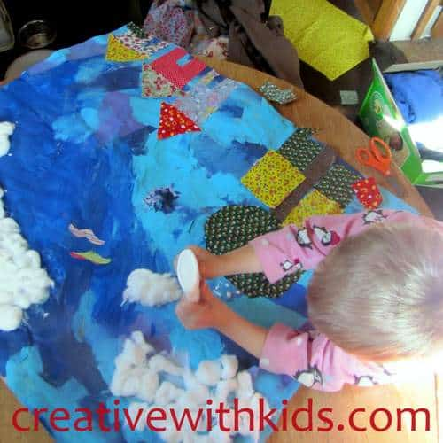 Creating with kids Little Cloud Collage
