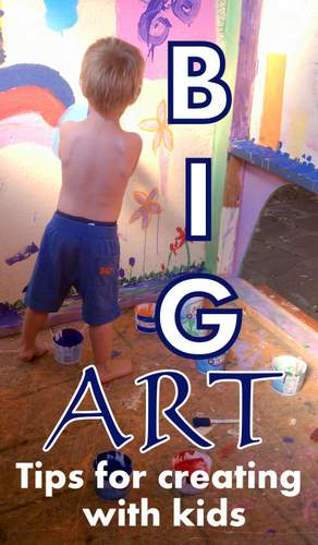 Creating Big Art With Kids  (3)