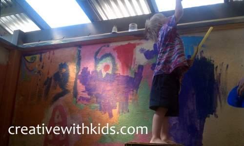 Creating Big Art With Kids