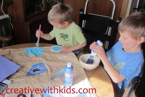Creating an Eric Carle painting with kids
