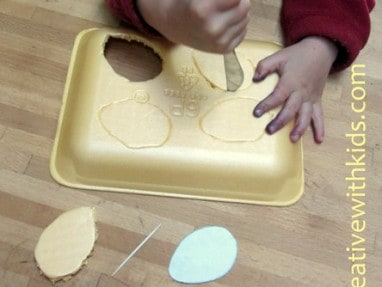 Stab That Shape! Sensory Activities with Foam Trays