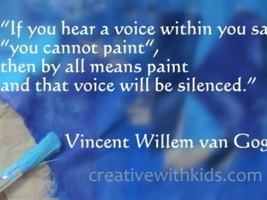 van Gogh quote about creativity