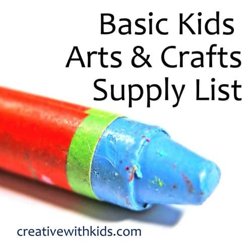 Basic Kids art supply list