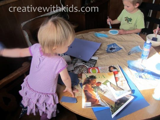 Things to do with toddlers- ripping paper