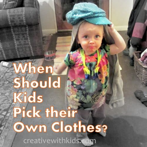 When should kids be allowed to dress themselves?