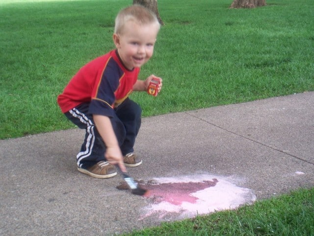 Easy Chalk and Water Play