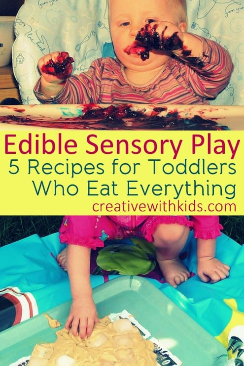 Edible Sensory Play and Recipes