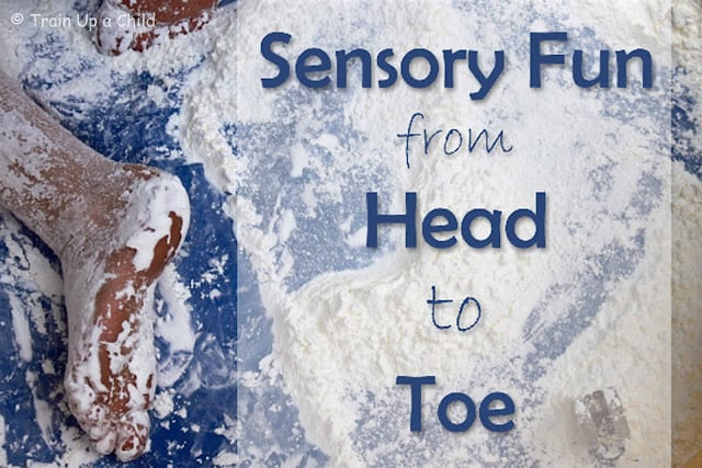 Sensory Fun from Head to Toe - Oobleck and Colors