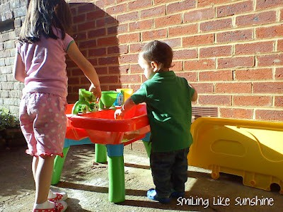 Talking about sensory activities builds your child's vocabulary