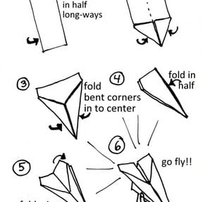picture regarding Printable Paper Airplane Designs referred to as inventive engage in Archives - Bounceback Parenting