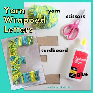 "Yarn Wrapped Letters - these would be a great ""letter of the week"" craft."