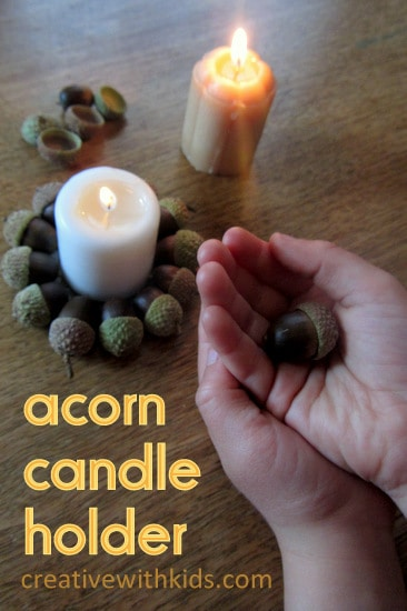 Fall Craft for Kids - Acorn Candles