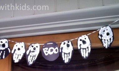 Halloween Handprints Craft – Ghost Banner