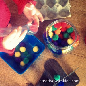 Foam trays for creative play