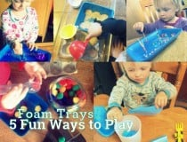 Fun play with foam trays