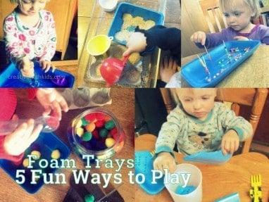 5 Foam Tray Toddler Activities