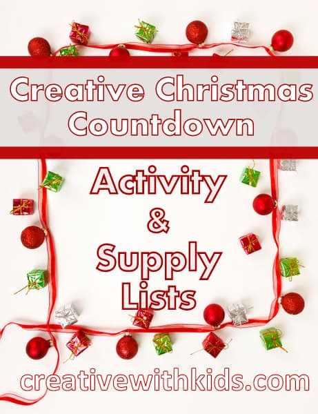 Creative Christmas Countdown Craft Supplies