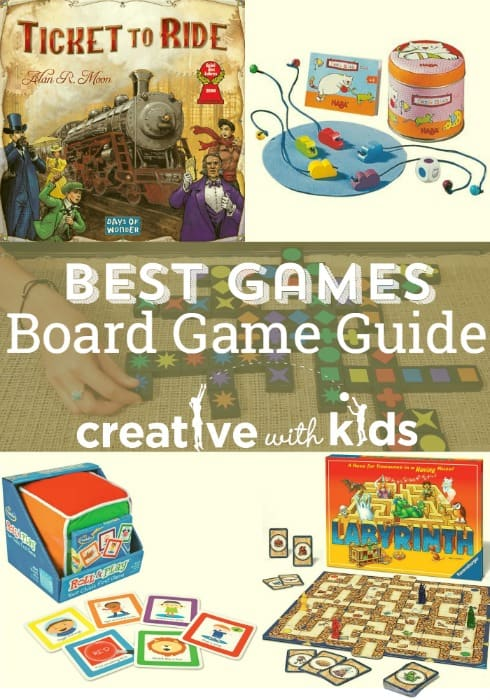 Best board games for toddlers though gradeschoolers - so many fun ideas here for board games for the family