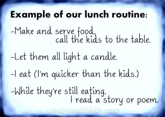 Example Lunch Routine