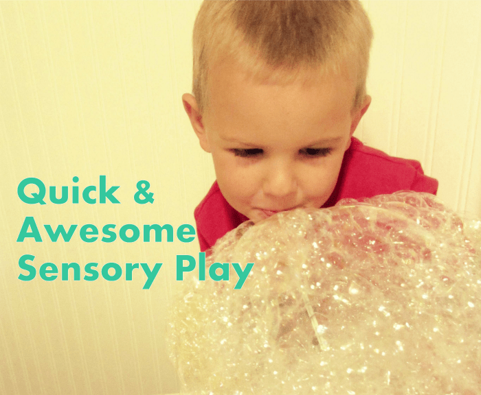 Our Best Quick Sensory Activities