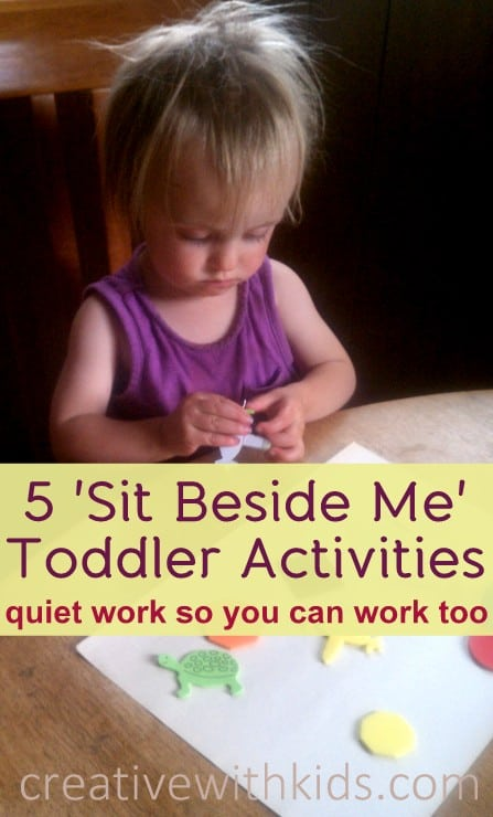 Quiet activities to do with toddlers