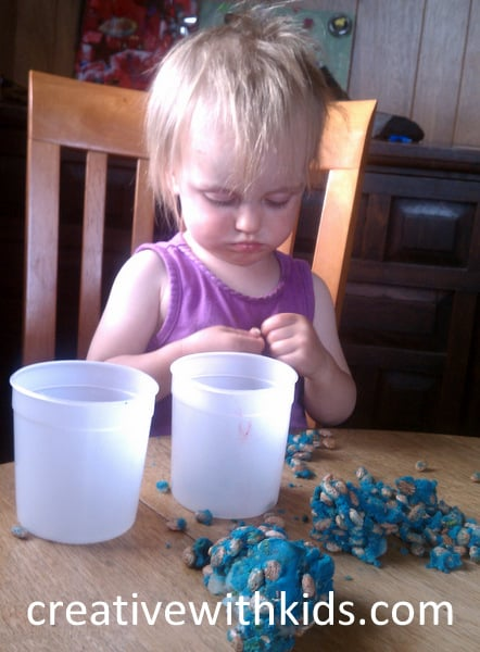 5 quick to grab toddler activities - beans in playdough