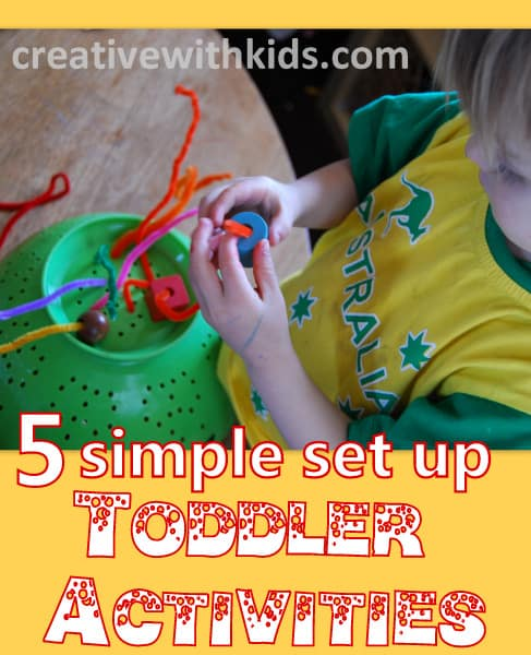 Easy ways to fill your day with fun and learning - low prep toddler activities