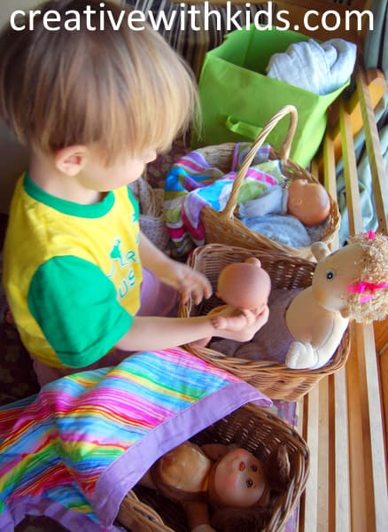 Putting all the babies to bed - five easy toddler activities