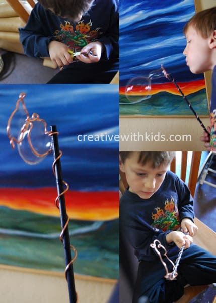 Making a bubble wand with an Artterro Kit