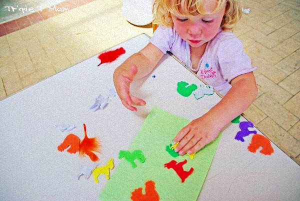 Sticker pic - activities that work well with more than one young kid