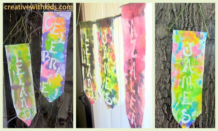 Family Name Banners - How to use Mod Podge as a Glue Resist