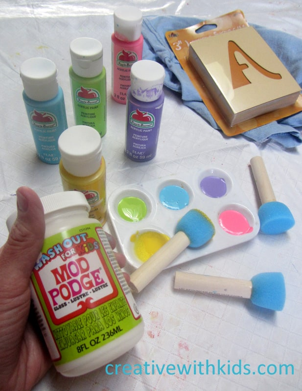 Mod Podge Glue Resist