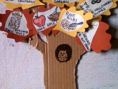 Fall Fun Activity Tree