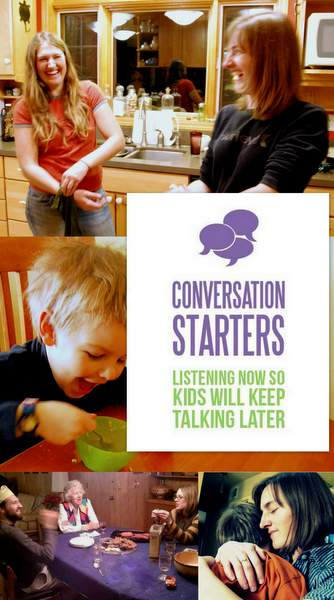 Conversation Starters - resources to get meaningful conversation going in your family